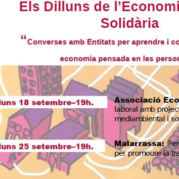 Els Dilluns de l'Economia Social i Solidaria de setembre
