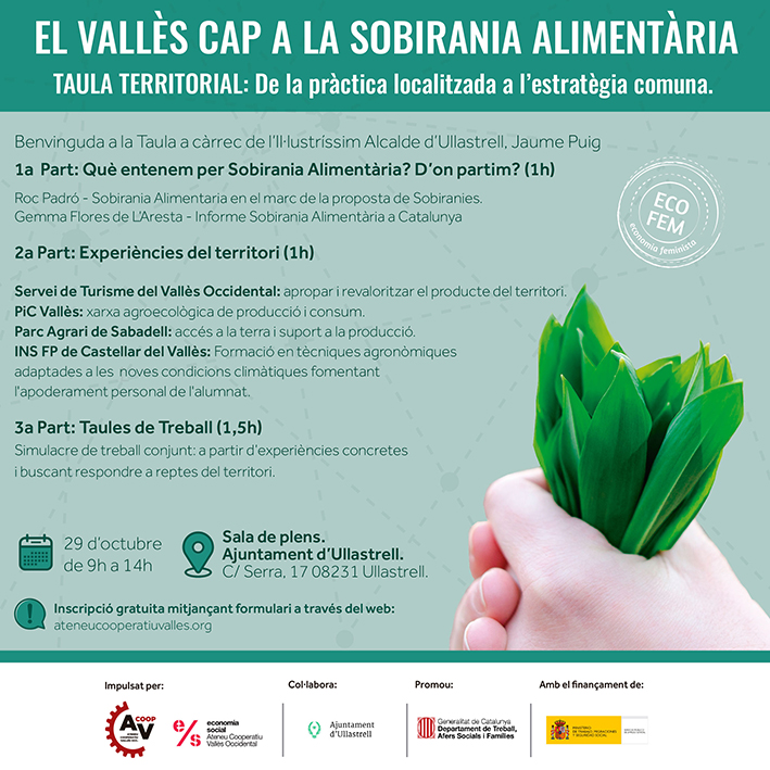 Taula Comarcal d'intercanvi, debat i treball per l'impuls de la Sobirania Alimentària al Vallès